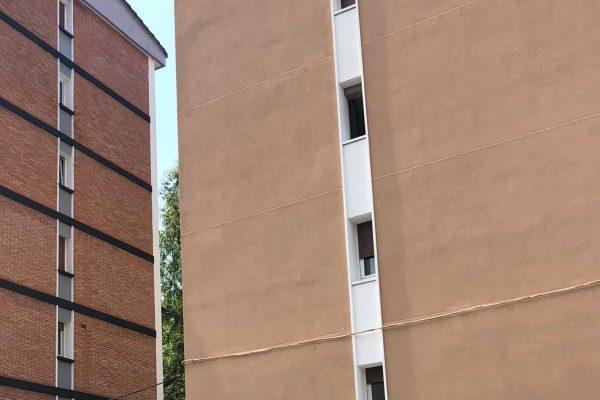 fachada edificio rehabilitada alaya taldea arquitectura mondragon
